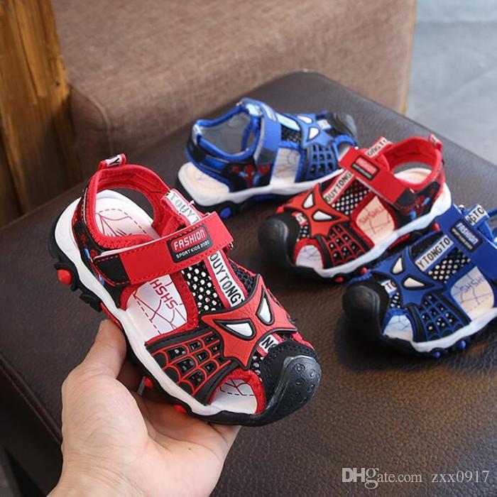Новый Мультфильм Мальчиков Сандалии Лето Новая Мода Младенческой Дети Повседневная Малыша Обувь Детские Полые Breather Сандалии Мальчиков Обувь