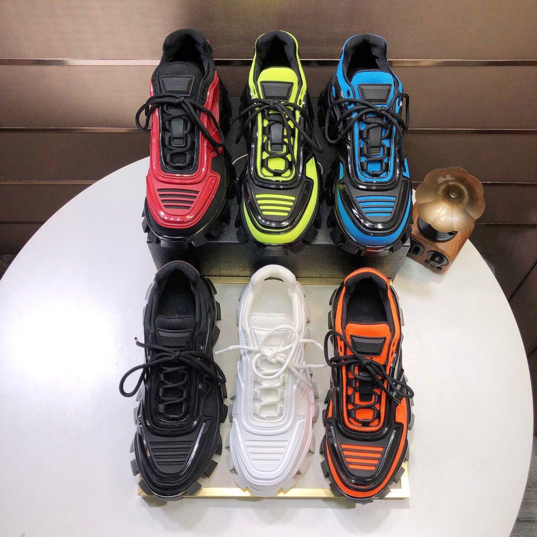 2020 Männer Low Top Freizeitschuhe Lates P Cloudbust Donner Lace up-Designer-Schuhe 19FW Kapsel Serie Farbabmusterung Plattform Luxus Turnschuhe