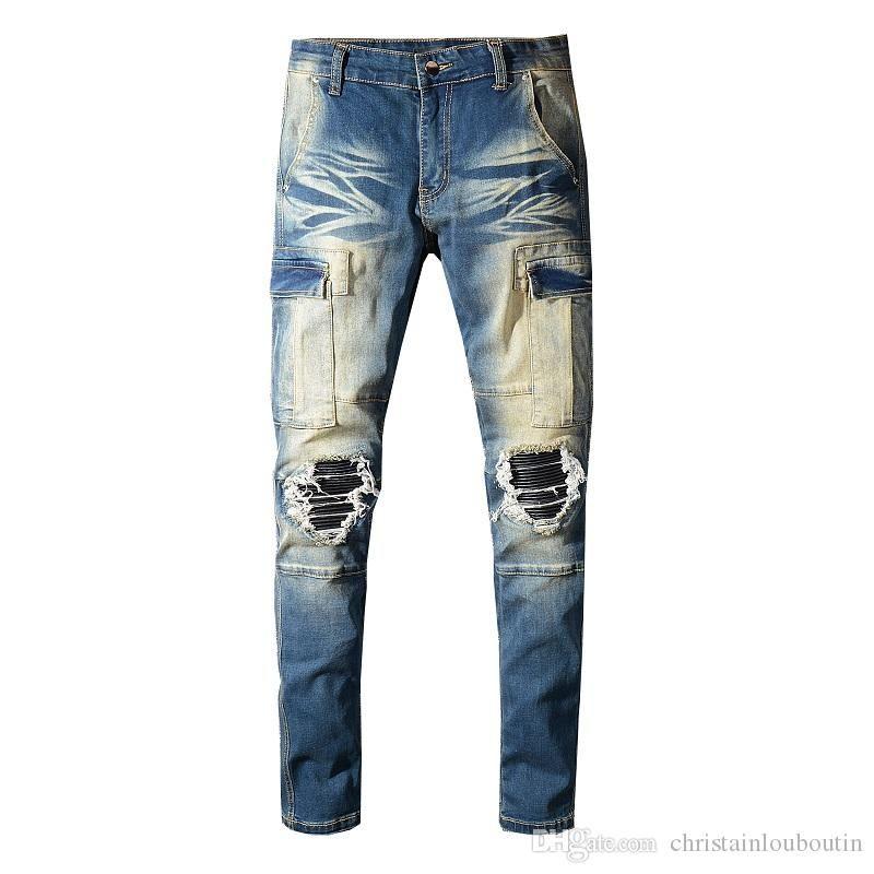 Compre Envio Gratis Venta Al Por Mayor Clasico Miri Hip Hop Pantalones Jeans Pantalones De Disenador Aquaman Hombres Slim Bike Medias Agujero Jeans Hombres Senoras Hollow Jeans A 24 7 Del Wxf186958