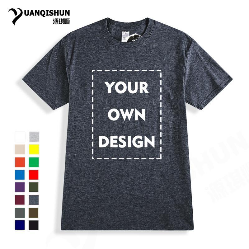 3 unidstu propio diseño de la marca Logo / imagen de alta calidad Casual Custom Men And Women camiseta Unisex Plus Size T Shirt envío gratis C19041101