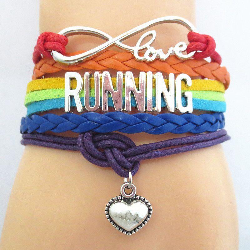 Fashion Infinity Love Running Bracelet For Women Men Sport Charm Jewelry Friendship Wrap Bracelets B09536
