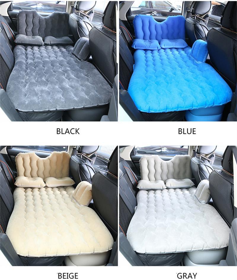 Автомобильный воздух надувной надувной надувной матрас кровать универсальный для заднего сиденья многофункциональный диван подушка открытый кемпинг мат подушка