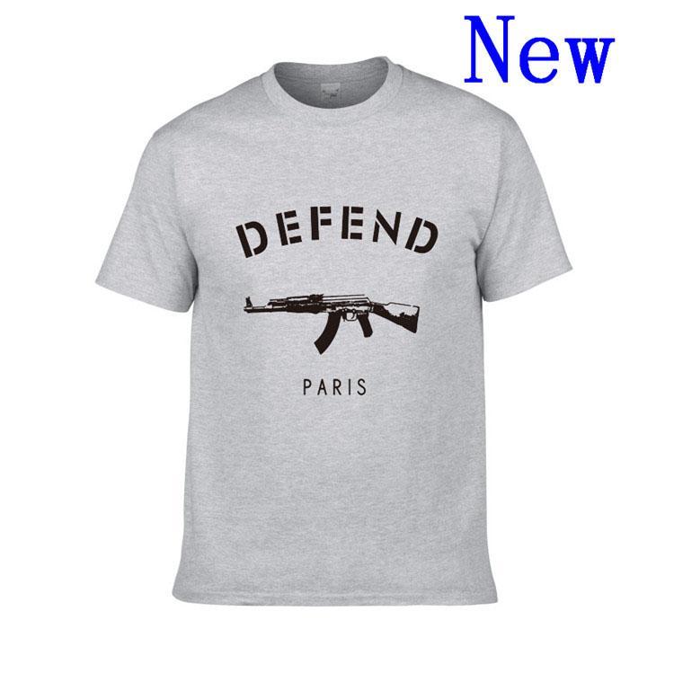 Livraison gratuite style d'été chaud T-shirt avec la marque manches courtes DÉFENDRE T-shirt à manches courtes hommes Paris XS-XXL W-2