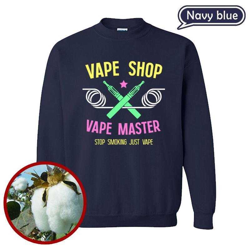 O Pulôver Mais Popular, Moda Vape Shop Impresso Sportshirt