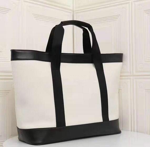 Tasarımcı Lady Çanta Büyük Kapasiteli Klasik El Çantaları Yüksek Kalite Moda Alışveriş Çanta Büyük Boyut Tasarımcı Beyaz veya Siyah Renk İnek / 4