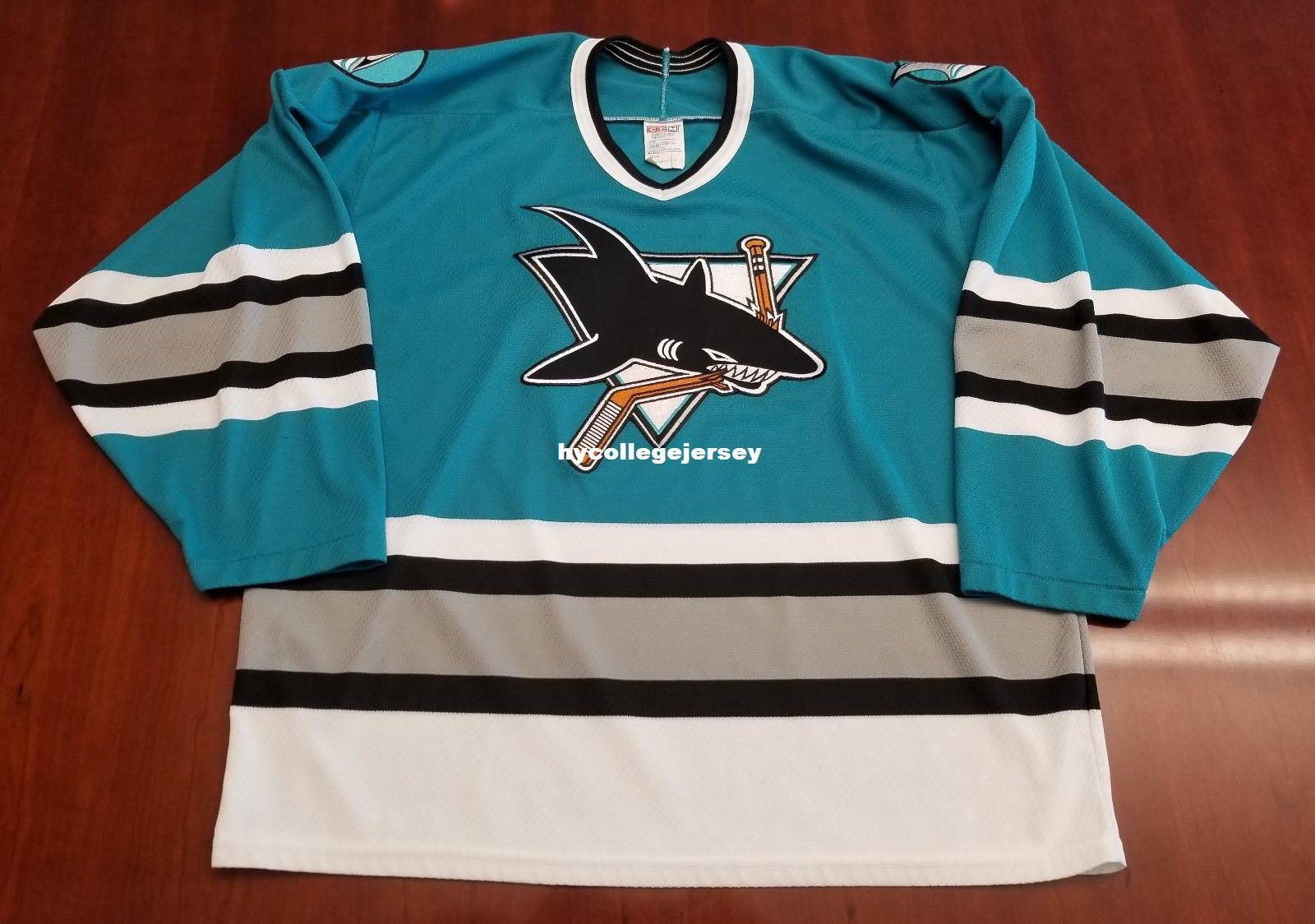 hot sale 00d9f 8c76f 2019 Wholesale Custom San Jose Sharks Vintage CCM Cheap Hockey Jersey Blue  Mens Retro Jerseys From Hycollegejersey, $27.54 | DHgate.Com