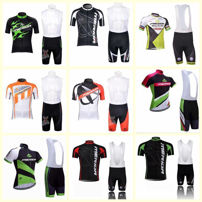 2020 Mérida equipe ciclismo mangas curtas jersey bib shorts conjuntos de novos homens esportes de verão respirável bicicleta esportes C627-101