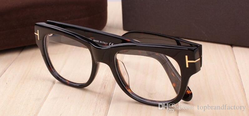 2019 nuevos hombres del marco de los vidrios del marco óptico TF5040 Plank Gran marcos de las lentes de la Mujer de la vendimia Miopía Gafas gruesas gafas con el caso