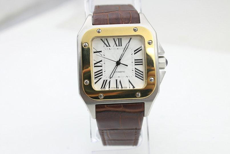 automatic mechanical watch brand W20107X7 100 XL leather strap men's watch
