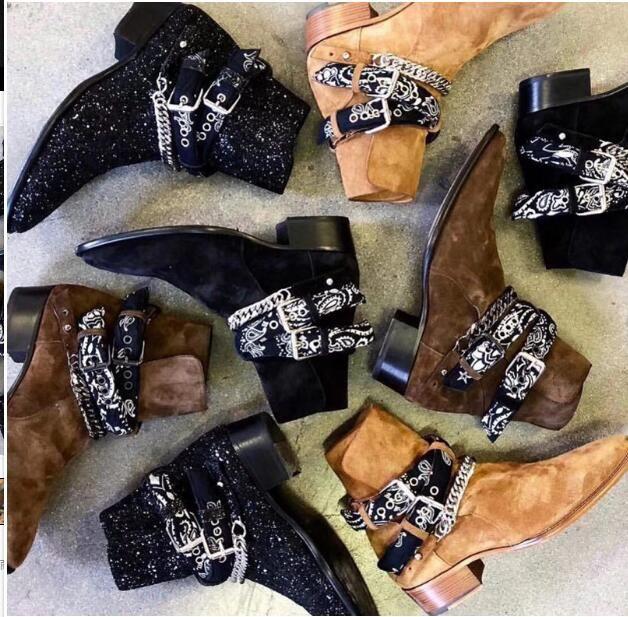 سلاسل أحذية الجلد المدبوغ البقرة أعلى الغربية وايت Chelse أحذية الرجال أحذية مارتن الحجم اليورو 46