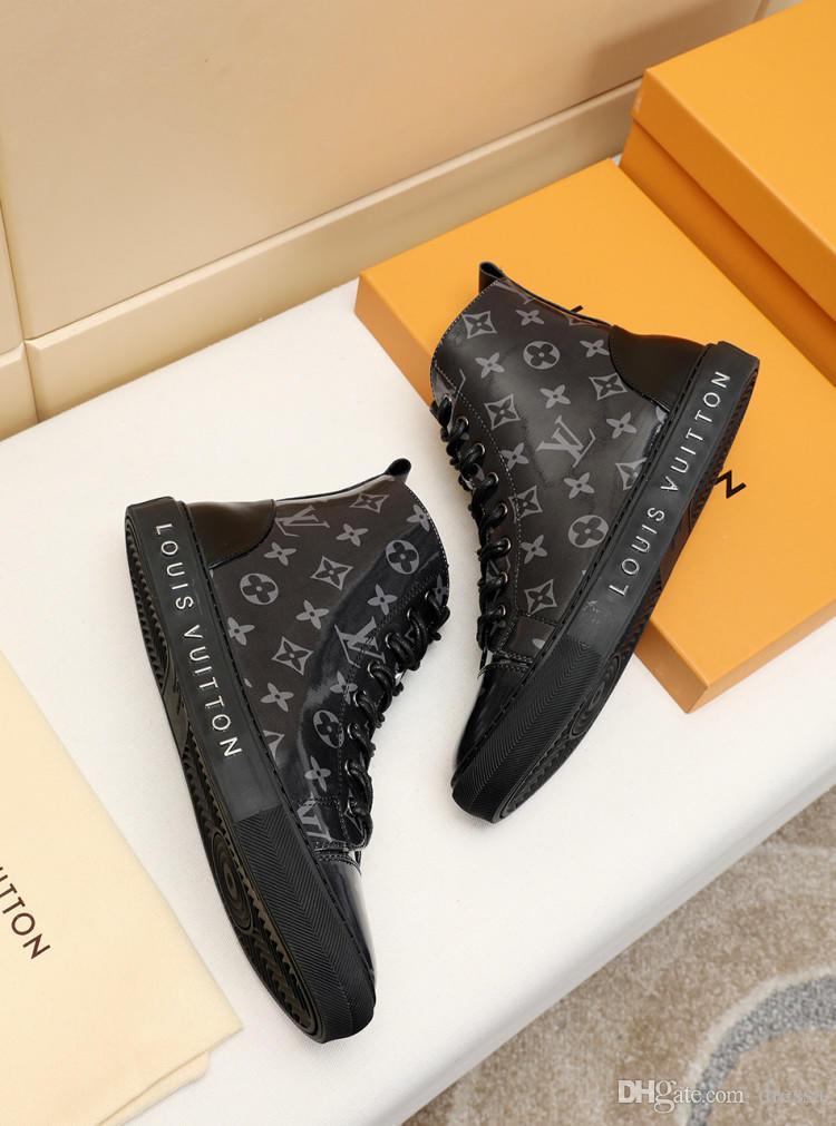 chaussures pour hommes occasionnels new2 chaussures sauvages de mode confortable de haute modèle aux bottes aider les hommes boîte d'emballage d'origine Zapatos Hombre