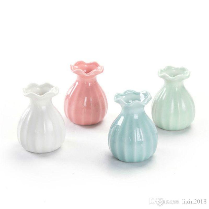 Mini Ceramics Vase Dry Flower Vase Decoration Home White Blue Ceramic Flower Pot Flower Basket Nordic Decoration Vases For Flowers Tall Glass Vases Tall Glass Vases For Sale From Lixin2018 2 22 Dhgate Com