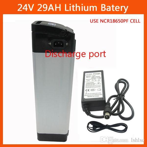 Descarga SUPERIOR Batería de litio de 24 V Batería eléctrica de 24 V 29AH para uso Celda Panasonic 2900mah con cargador de 29.4 V 3A