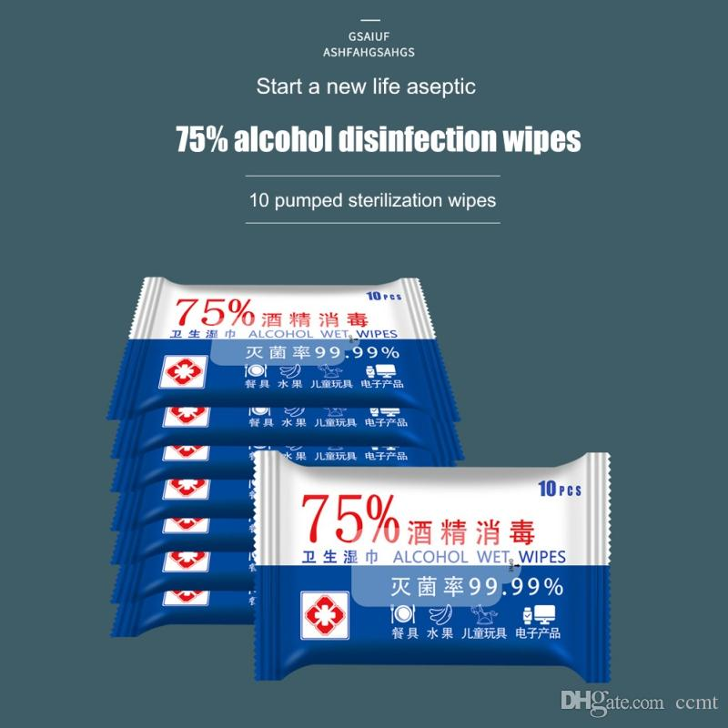 75% de álcool Medical Desinfecção portátil esterilizar Alcohol Swabs Pads toalhetes anti-sépticos Cleanser Esterilização Limpeza First Aid Início