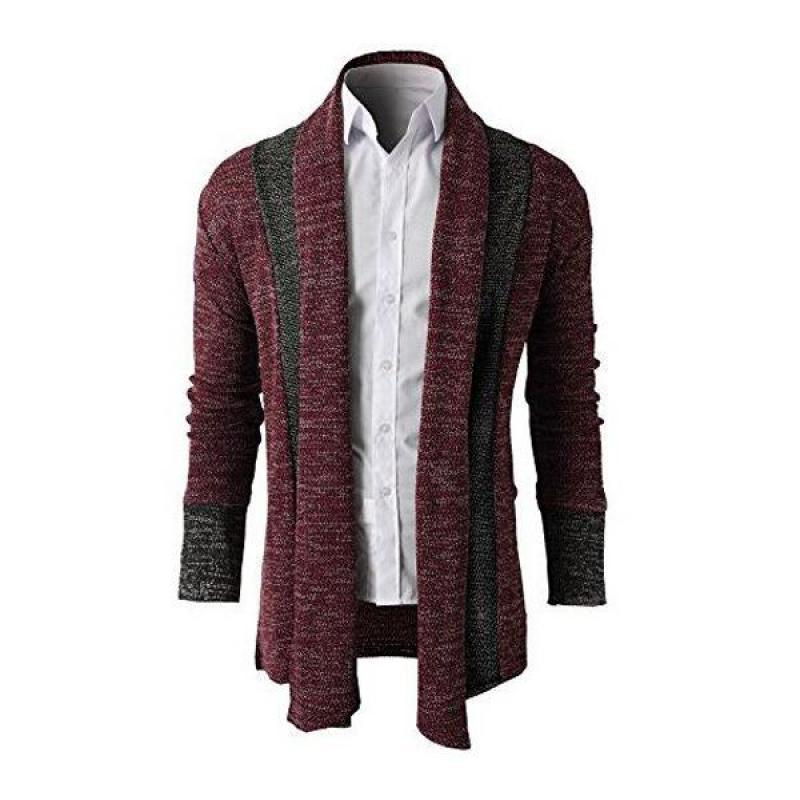 2019 nuevos hombres suéter de costura primavera delgada Cardigan Jacket para hombre casual M-XXL Tamaño de envío gratuito