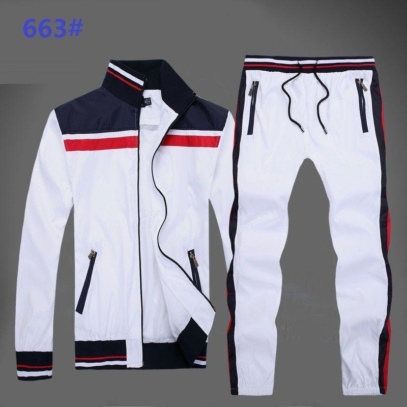 New 2019 Men's Sweatshirts Sportswear Man Jacket pants Jogging Jogger Sets Turtleneck Sports Big horse Tracksuits Sweat Suits