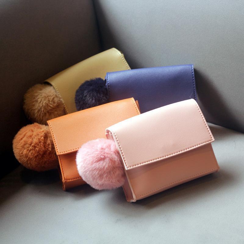 Raged Sheep Enfants Bébés filles bourse Portefeuilles Belle Hairball mignon de stockage unique Sac à bandoulière Porte-Monnaie Monederos Para Mujer