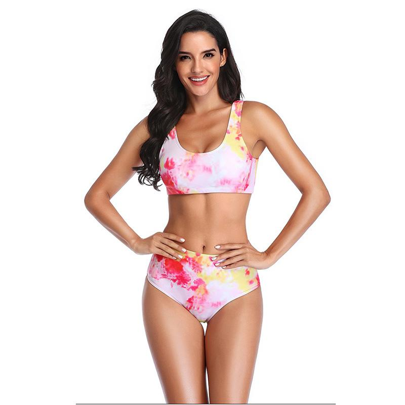Push Up Maillots de bain Femme Tie Dye Ensemble bikini Maillot de bain Beachwear Deux Pièces Natation Maillots de bain sexy Bandage Bikini