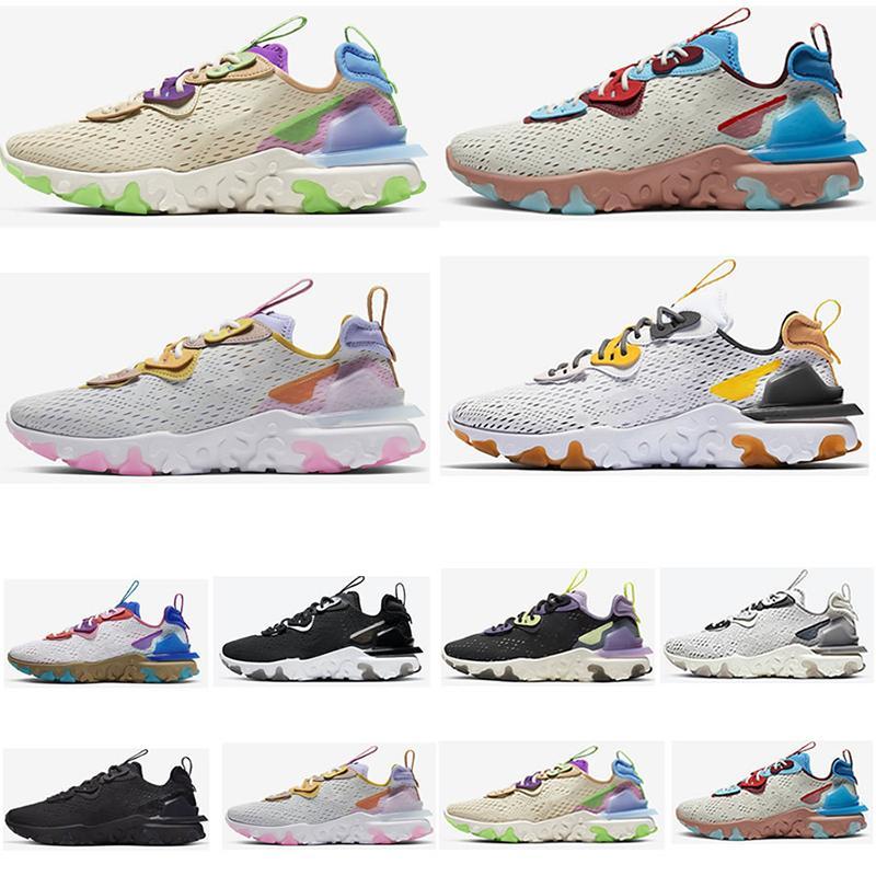 Zar zor Volt Mesh Erkekler Kadınlar Ayakkabı Üçlü Siyah Desert Oasis Yerçekimi Mor Geniş Gri Eğitmenler spor Sneakers Running Vision D-MS-X Tepki