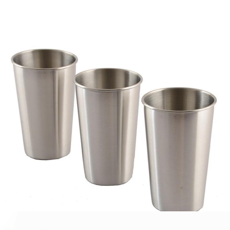 500ml stainless steel Beer Tumbler single wall wine cup Metal Travel Mugs Drinkware for Coffee Tea