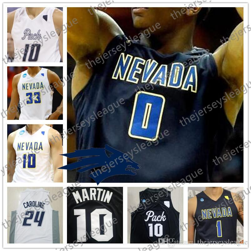 Custom Nevada Wolf Pack Any Name Any Number White Black Stitched #10 Caleb Martin 11 Cody NCAA College Basketball Jerseys