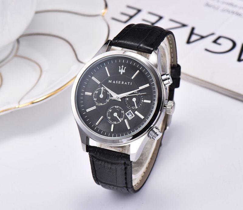 assistir Maserati Menes ou womenes aço cinto de relógio de quartzo topo watch1 ocasional