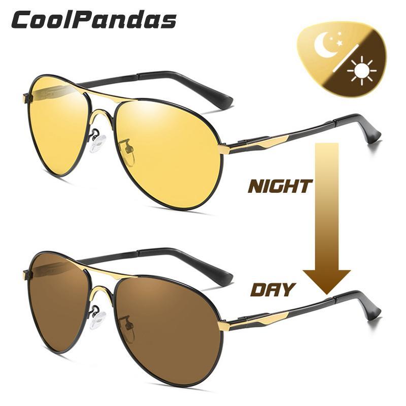 2019 سائق سيارة طيرت يوم نظارات للرؤية الليلية اللونية النظارات الشمسية المستقطبة المضادة للوهج الشمس القيادة نظارات oculos دي سول