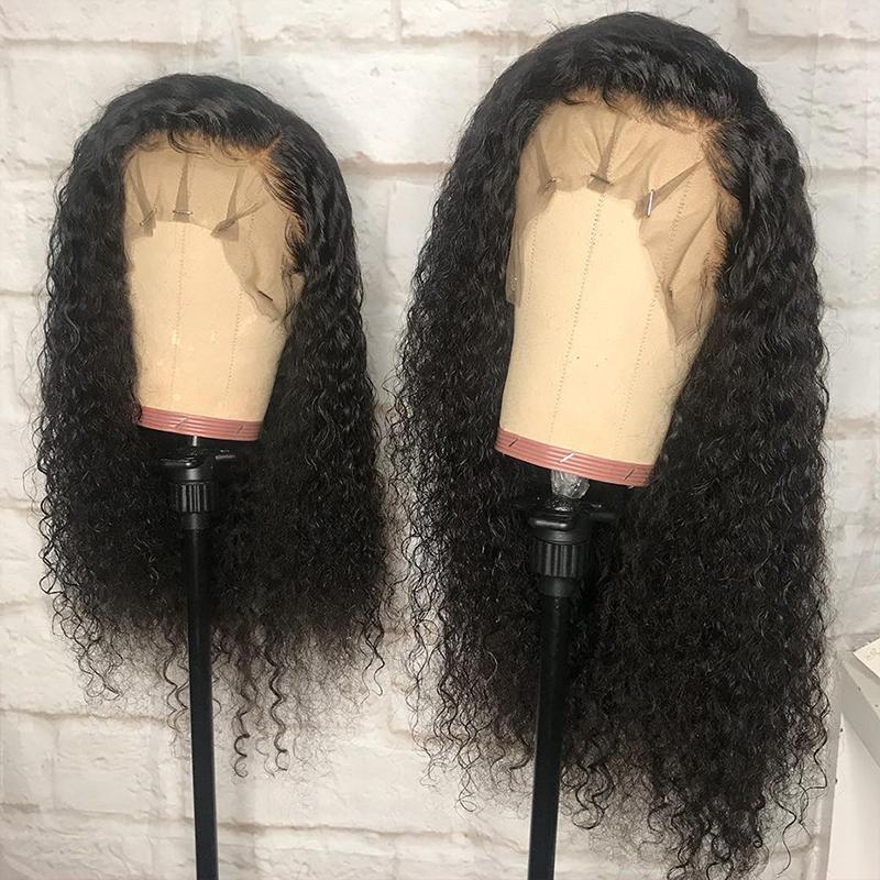 Derin Kıvırcık Dantel Peruk İnsan Saç 13X6 Dantel Açık Peruk Kısa Bob 360 Dantel Frontal Peruk İçin Siyah Kadınlar