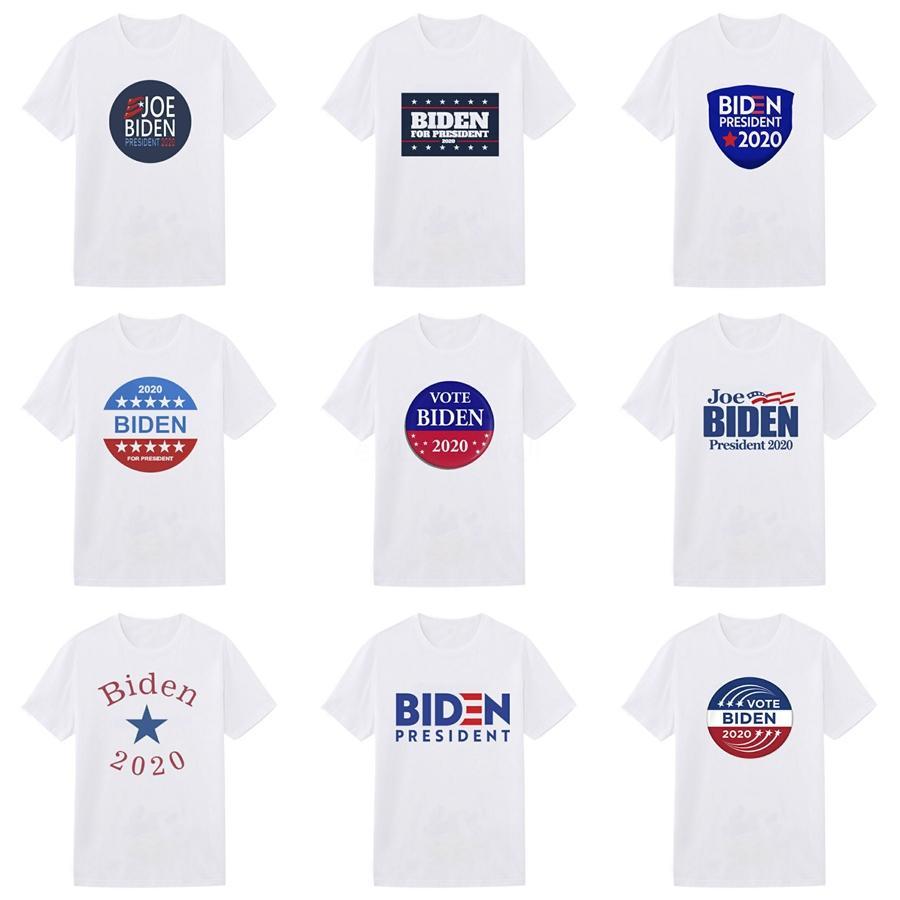 Erkekler ile Mektupları Baskılı Tişört Beden M-3XL # 15 için 2020Fashion Luxur Marka Tasarımcı T Gömlek Hip Hop Beyaz Erkek Giyim Casual Biden T Gömlek