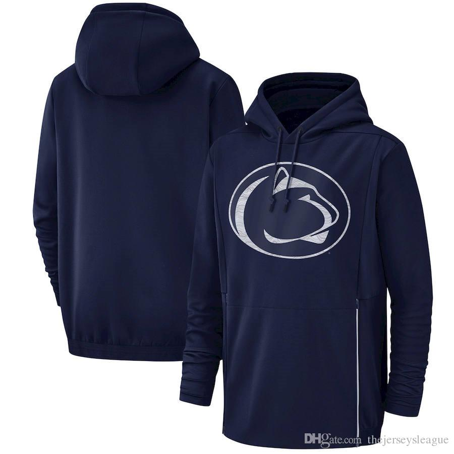2019 Neue Männer Penn State Nittany Lions Sweatshirt Salute zum Service Sideline Therma Leistung NCAA Navy Blue Pullover Hoodie