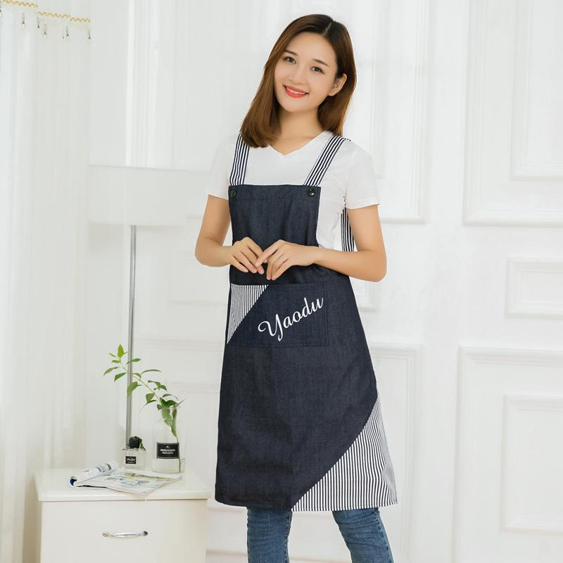 한국 패션 방수 방유 여성 바지 귀여운 북유럽 스타일의 가구 일본어 성인 허리 남성 앞치마 키친