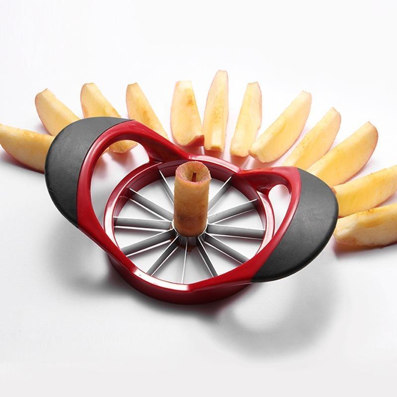 Kreative Edelstahlapfelschneid Artefakt Küche Multifunktions-Fruchtlochteiler Haushaltsobstschneidewerkzeug