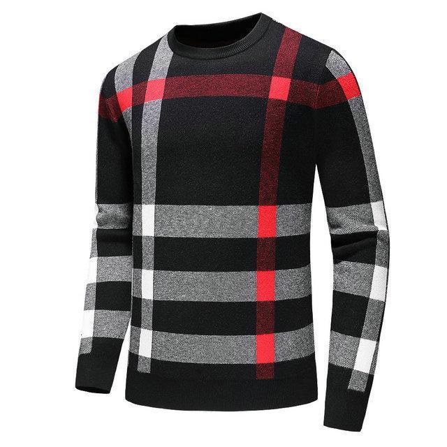 suéteres de moda de los hombres fet22 diseño cálido suéter de los hombres clásicos de algodón de invierno nuevo estilo informal suéter hecho punto 0902