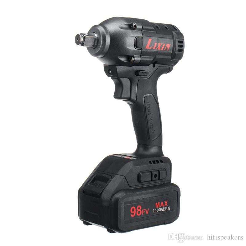 98FV 14800mAh Cordless Brushless Elektroschrauber Drill-LED-Licht W / 1 oder 2 Li-on Batterie