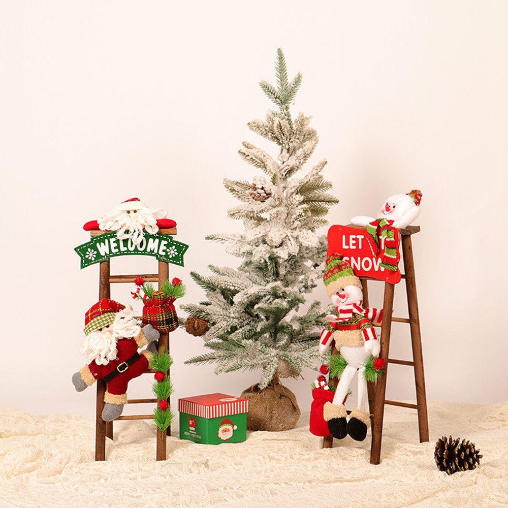 Natal Papai Noel que escala na corda escada decorações Figura Xmas Trees Outdoor Decor natal para casa 2018 #EW