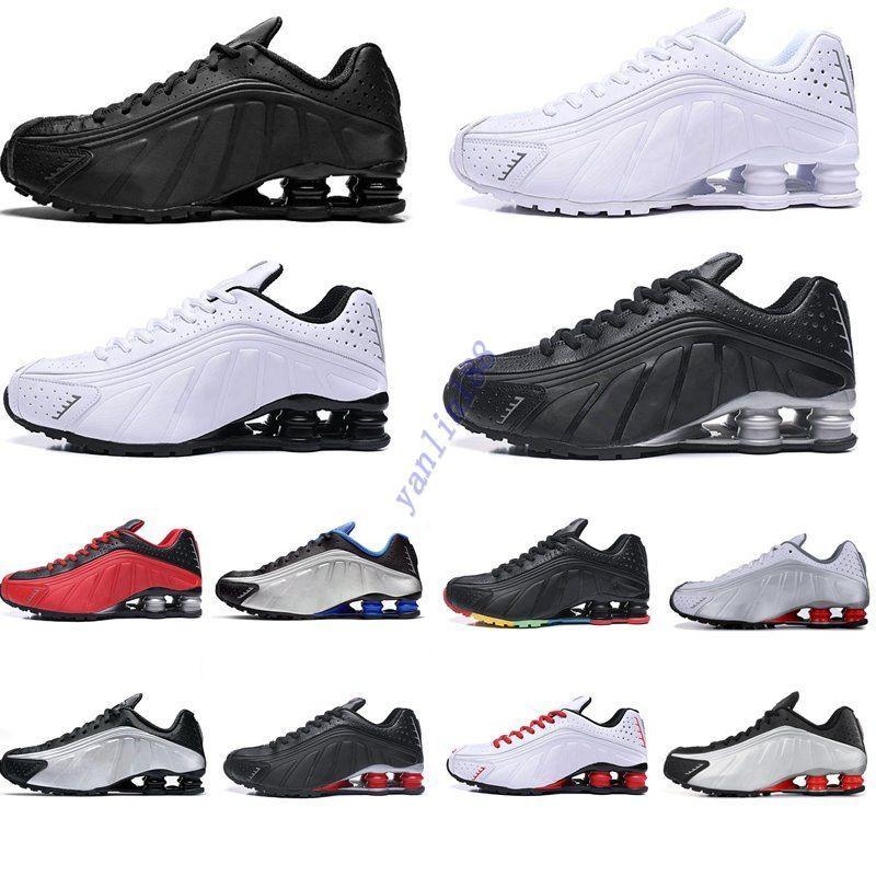 qualité chaude Chaussures de course Couleur métallique DELIVER R4 Hommes Chaussures OZ NZ 301 Sport Chaussures Noir Blanc Augmentation Coussin Zapatillas 40-46
