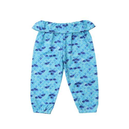 USA Kid Baby Girl Mermaid Fish Scale Leggings Pants Trousers Toddler Bottoms
