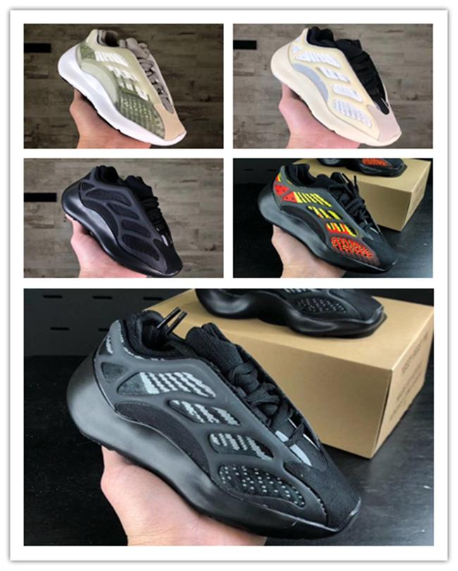 2020 Kids 7OO Infants Running Shoes Girls Sneakers Children Little Boys Azael Black Kanye West V3 Alvah Skeleton Basketball Trainers 28-35