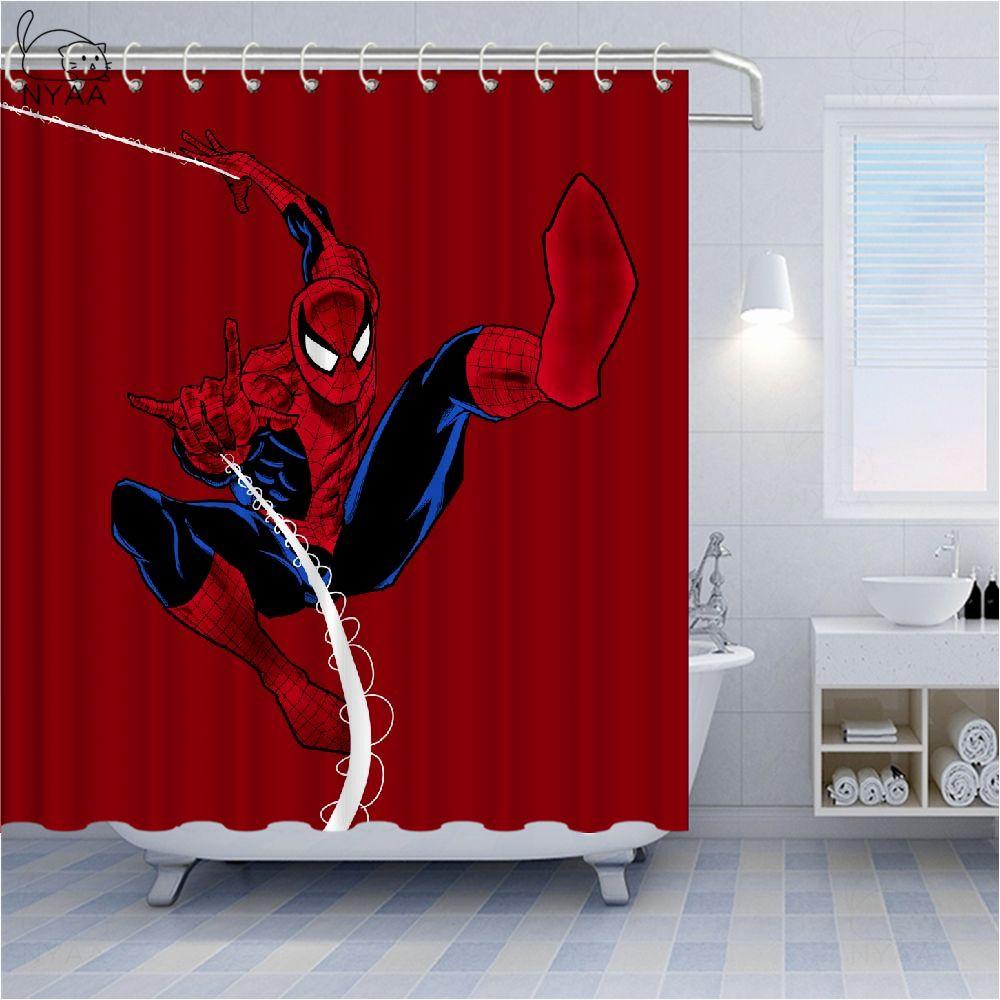 2020 Shower Curtain Popular Spider Man Hero Pattern Marvel Comics Bathtub Bathroom Decoration Shower Curtain Home Decoration Curtain Boys Bedroom From Dhgate0316 29 59 Dhgate Com
