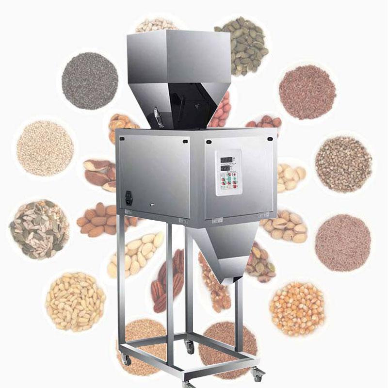 5-999g machine de remplissage automatique pour chat de grains de café de farine de graines de thé grain machine d'emballage alimentaire