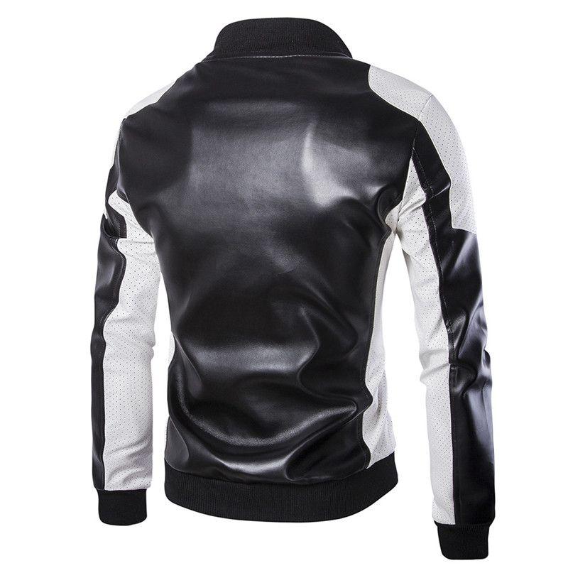 Plus Size Herren-Leder-Jacken Stehkragen Winter-Herren-Designer Jacken männlichen Mantel