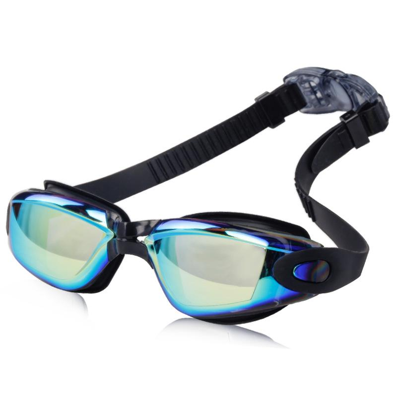 Amazon burst electroplating dazzling swimming glasses HD waterproof fog-proof swimming mirror male and female swimming mirror
