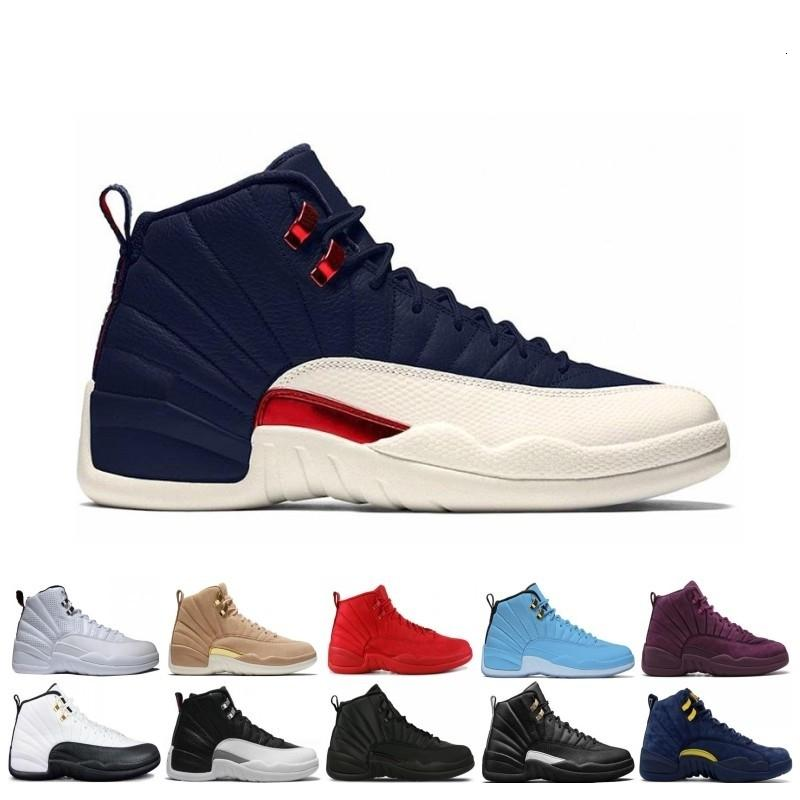 Factory Wholesale 12 12s Men Basketball Shoes Sneakers Black White Playoff The Master Gym Red Gamma Blue 12s Mens Sports Shoes 7-13