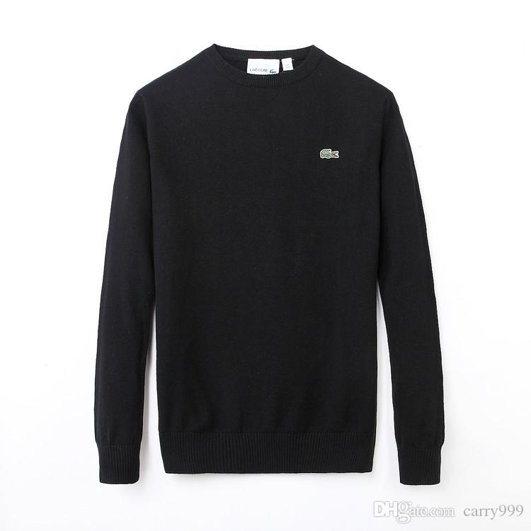 Brand polo Men's Twisted Needle Sweater Knitted Cotton o-neck Sweater Solid color Pullover Sweater MaleSize M-XXL more color