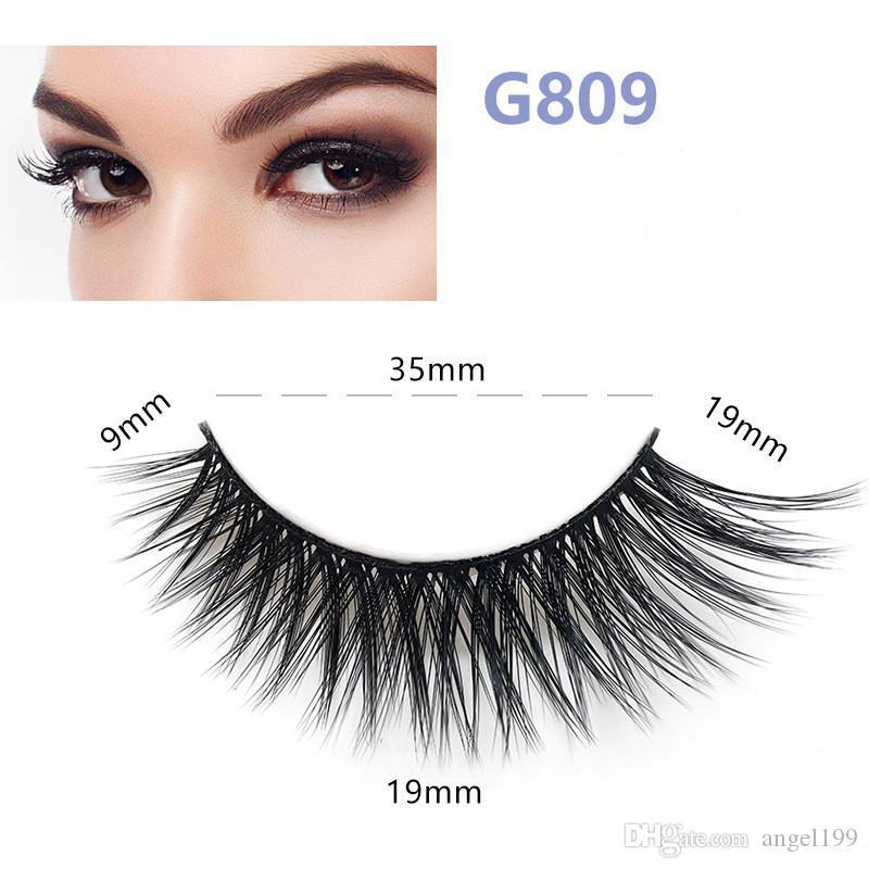 5 pares / set Falso EyeLashes 5 Pairs 3D Natural Longo Cílios Falsos Ferramentas G809 Maquiagem Artesanal Acessórios com dhl frete grátis