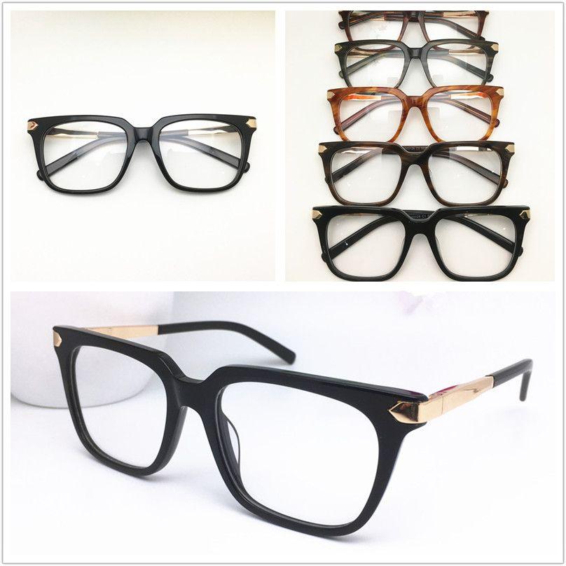 Новое высокое качество Brand Design Оправы Мужчины Женщины моды Vintage ацетат очки оправ Plank очки кадр очки очки 0129