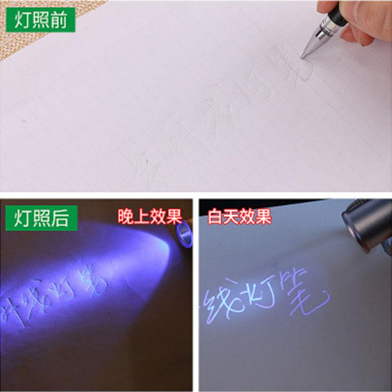 Гель ручки 100 шт. Ультрафиолетовые невидимые пополнения завод УФ, показывающие кожа PU сетки сплетенные ткани резиновые маркировки Gelpen пополнение