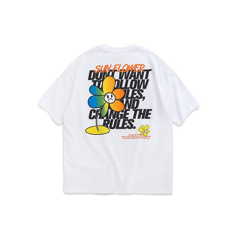 T-shirt da forma dos homens / mulheres 2020 Verão / Primavera Popular impresso Daisy Júnior Imprimir manga curta T-shirts para casais 3 cores tamanho M-XL