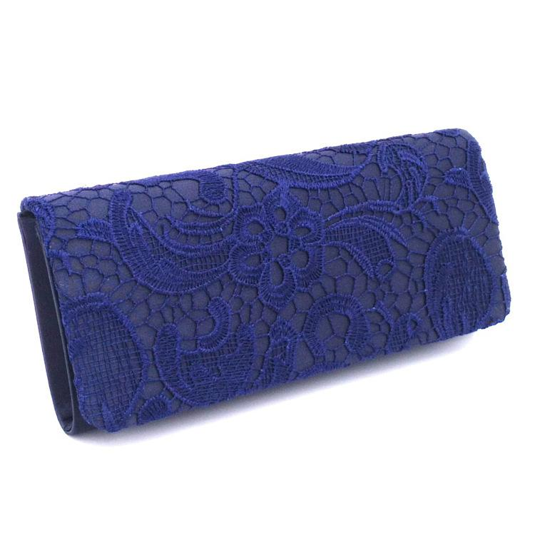 DesignerFashion evening bags clutches for women satin material evening bag elegant lace ladies wedding bag shoulder bags