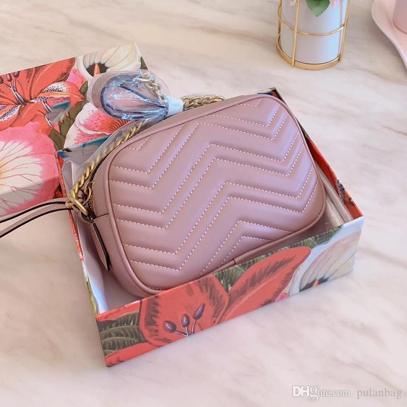 Lüks klasik biçimidir kamera çantası çanta kadın tek omuz çantaları tasarımcı küçük çanta Kemeri crossboy çanta ekose zincir çanta